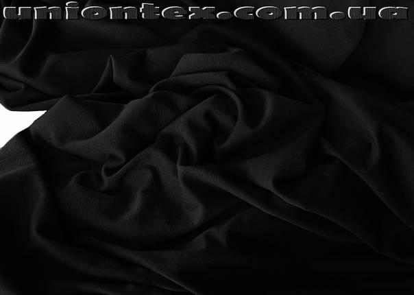 Французский трикотаж черный, фото 2