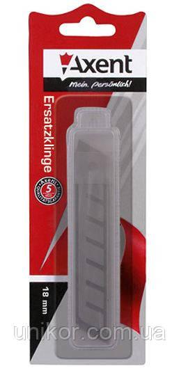 Лезвие сменное для канцелярского ножа 18 мм., 10 шт./уп. AXENT