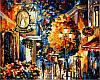 Картины по номерам 40×50 см. Кафе в старом городе Художник Афремов Леонид