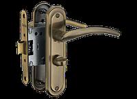 Комплект дверна ручка+механізм в санвузол або з ключем