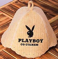"""Шапка для бани """"Playboy со стажем"""""""