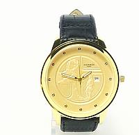 Часы наручные  с календарем мужские HERMES копия