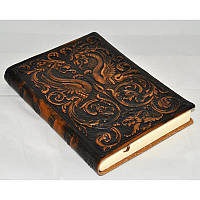 Записная книга ручной работы Florentia Dragons brown leather