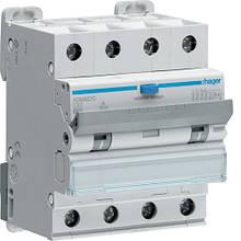 Дифавтомат 4P - 32 A, 30 мA, хар-ка С, тип A, Hager ADM482C