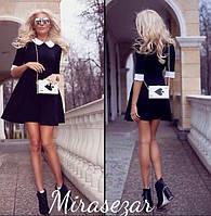 Модное Платье белый воротничек