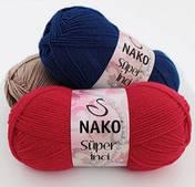Nako super inci (75% преміум акрил, 25% вовна /260м / напіввовна / осінь-зима)