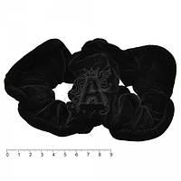 Резинки велюровые черные объемные