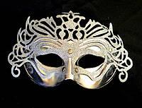 Карнавальная маска серебристая