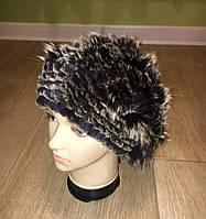 Удлинённая женская меховая шапка