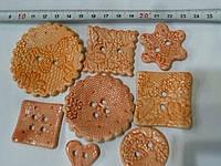 Пуговицы керамические декоративные покрытые глазурью набор