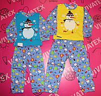 Пижама детская Снеговик начес
