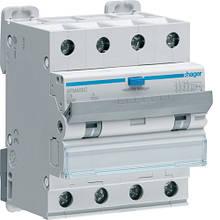 Дифавтомат 4P - 6 A, 300 мA, хар-ка С, тип A, Hager AFM456C