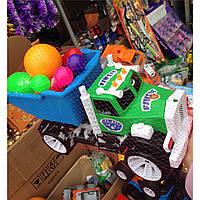Детская машина-грузовик с кеглями, игрушки для детей