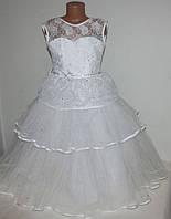 Нарядное платье для девочек 5-8 лет, корсет, производство Украина