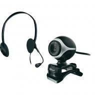 Веб-камера + Гарнитура Trust Exis Chatpack Black (17028)