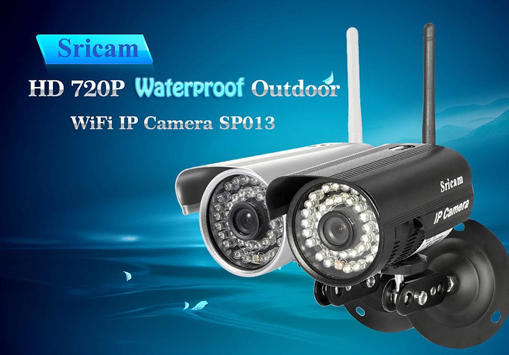 Ip wifi HD камера наружного наблюдения Sricam SP013. Черный цвет