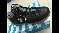 Мужские ботинки Native черно-серые