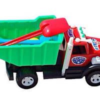 Детская машинка грузовик, с лопаткой, грабли и паски, игрушки для детей