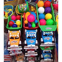 Детская машина-грузовик с шариками, игрушки для детей