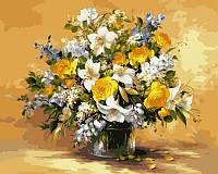 Картины по номерам 40 × 50 см. Безупречная красота цветов худ. Пинторе, Фасани