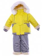 Зимний комбинезон с меховой отделкой для девочек и мальчиков