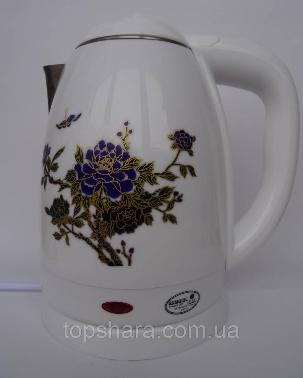 Электрочайник Domotec DT-823 чайник 2.0л. Белый
