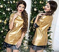 Платье из эко-кожи  нарядное на любой случай