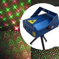 Лазер музыкальный X-09 (снежинки, сердечки, звездочки)