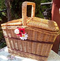 Пикник прямоугольный  плетный из лозы