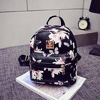 Рюкзак женский маленький черный экокожа