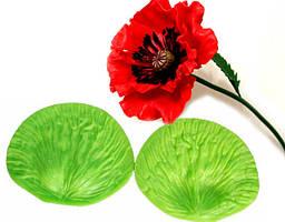 """Вайнер молд """"маки"""" для реалистичных лепестков мака для керамической флористики,мастики"""