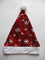 Шапка Деда Мороза блестящая, фото 1