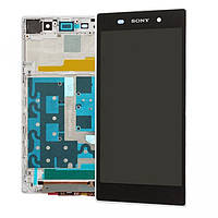Дисплей для Sony C6902 L39h Xperia Z1/С6903/С6906/С6943 + touchscreen, белый, с передней панелью, оригинал (Ки