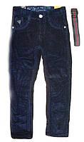 Теплые вельветовые брюки на флисе для мальчика