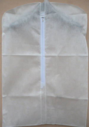 Чехол для хранения и упаковки одежды на молнии детский флизелиновый  белого цвета. Размер 50 см*70 см., фото 2