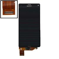 Дисплей для Sony D5803 Xperia Z3 Compact/D5833 + touchscreen, чёрный, оригинал (Китай)