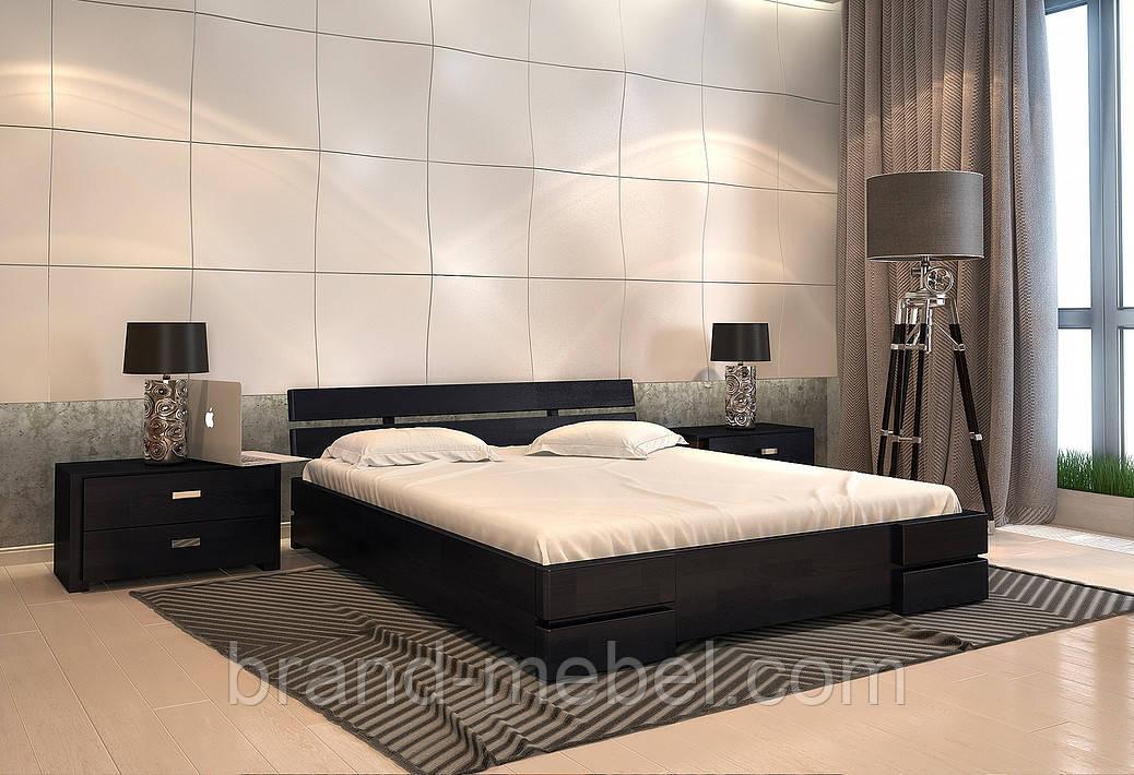 Ліжко дерев'яне двоспальне Далі / Кровать деревянная двуспальная Дали