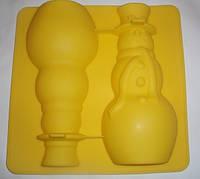 """""""Снеговик 3D"""" форма для пирога"""