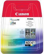 Картридж Canon PG-40Bk/CL-41 (0615B043) (iP1200, iP1600, iP2200, JX200, JX500, MP150, MP170, MP450, iP1300, iP1700, MP160, MP180, MP460, MP470, MP220,