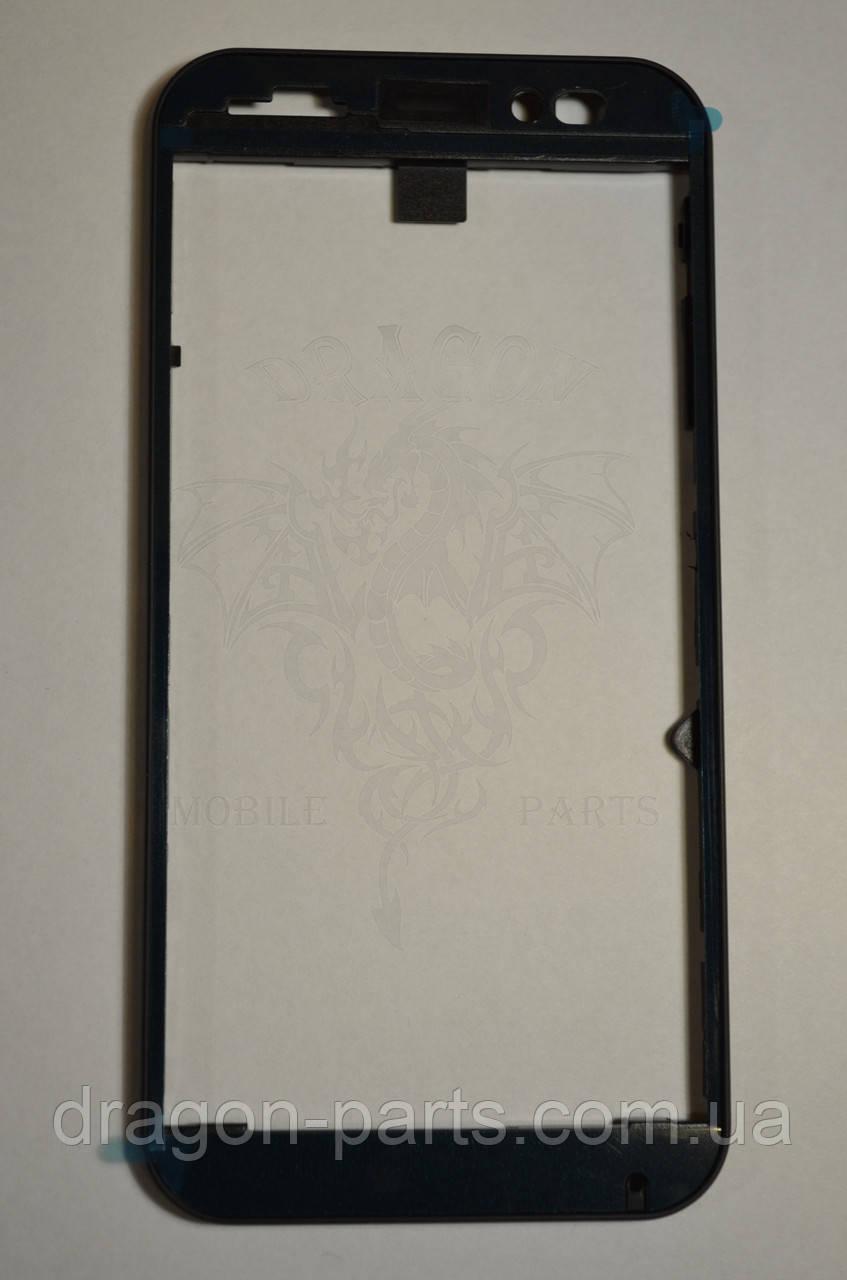Передняя рамка  Nomi i451 Twist синяя, оригинал