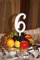 Деревянный номерок-цифра на стол