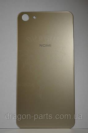 Задняя крышка  Nomi i5030 EVO X золотая, оригинал, фото 2