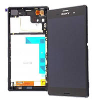 Дисплей для Sony D6633 Xperia Z3 Dual + touchscreen, чёрный, с передней панелью