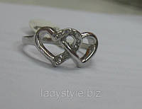 "Кольцо ""Сердечки"" размер 19 от Студии  www.LadyStyle.Biz"