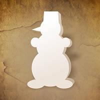 Снеговик из пенопласта высота 85 см