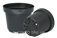 Горшок для рассады круглый d10,3 h7,6 v0,40 черный, фото 1