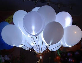 Шар со светодиодами белый 30 см диаметр