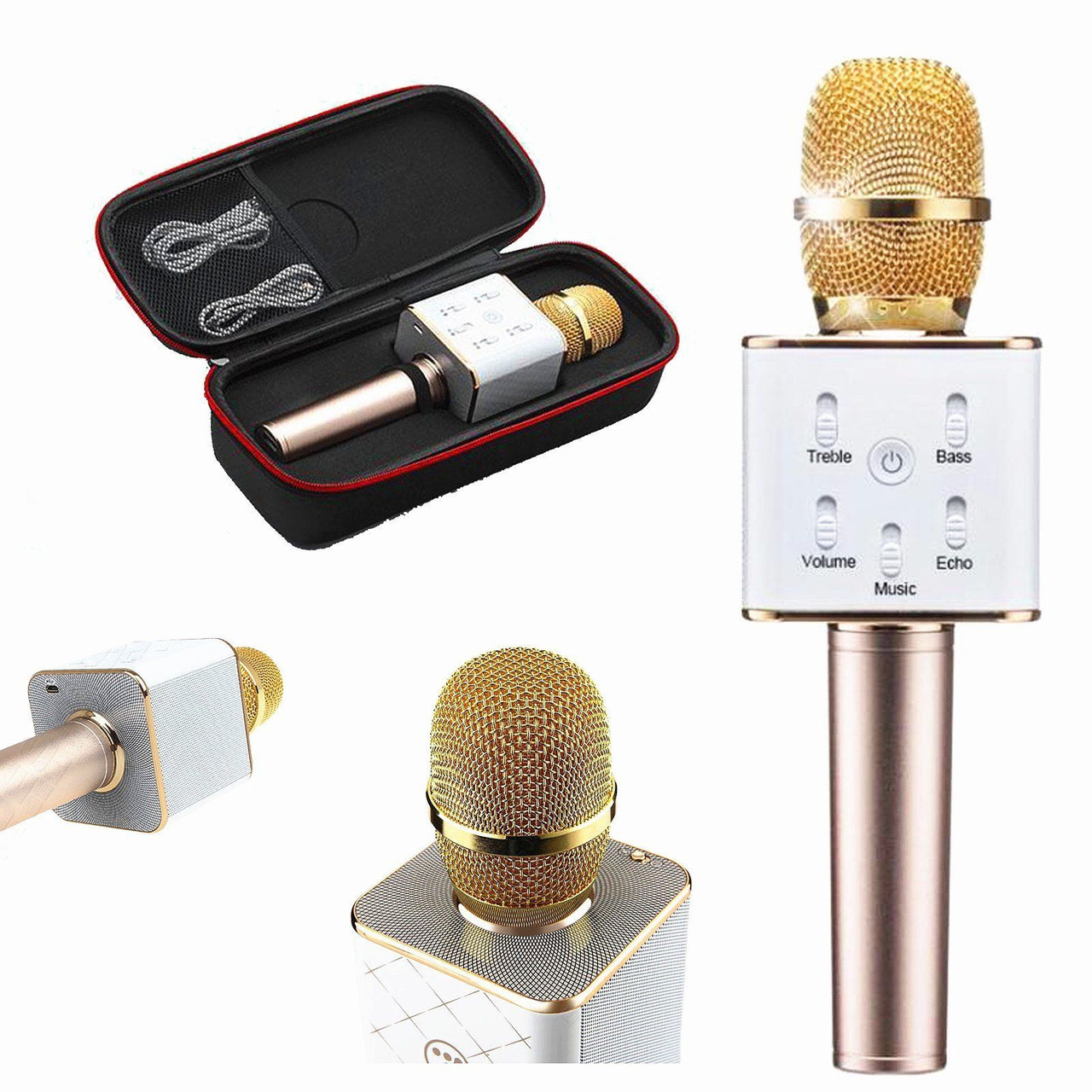 Микрофон Караоке динамик - bluetooth Q7 беспроводной