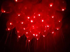Шар со светодиодами красный 30 см диаметр