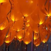 Шар со светодиодами оранжевый 30 см диаметр
